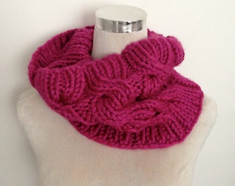 Keep Toasty Warm This Winter in this Snuggly Snood-Cowl-Scarf-Hand Knitted in New Zealand-