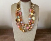 """Our One Of A Kind """"Boston"""" Collection in Golds, Copper, Peach and Sparkly Crystals"""