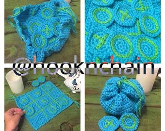 Quiet time tic tac toe crochet game