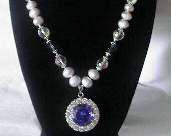 Regal Purple Magnificent Sparkling Necklace
