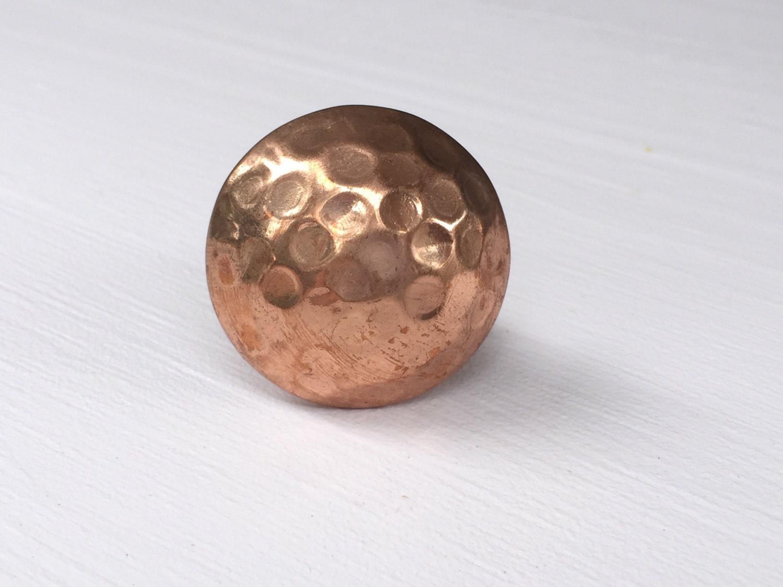 3 European Satin Copper T-Bar Round Cabinet Pull Drawer