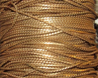 35 ft vintage 2mm brass herringbone type chain