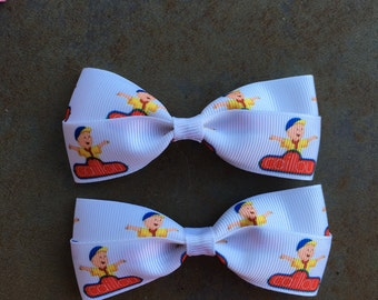 Caillou Hair Bows with Clips