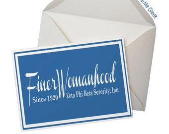 Zeta Inspired Finer Womanhood Note Cards (5 pack)