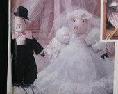 """This Little PIggie, 18"""" stuffed dolls with clothing, McCall's 651/4665/303, design by Faye Wine, uncut, complete, amusing decor, gift item"""