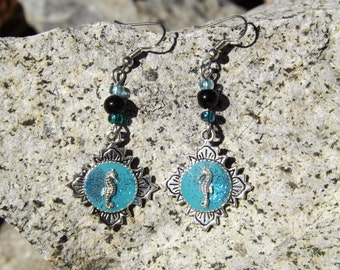 Turquoise seahorse