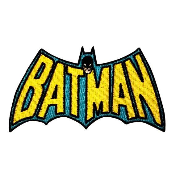 Retro Batman Classic TV Show Batwing Logo DC Superhero Iron-On Applique Patch