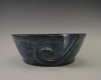 Ceramic yarn bowl,  stoneware knitters bowl, pottery crochet bowl