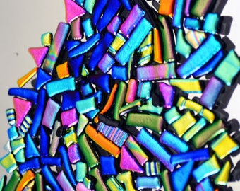 Dichroic Tiles, Choice Premium Colors, Dichroic Glass Tiles, Mosaic Tiles, Rainbow Tiles