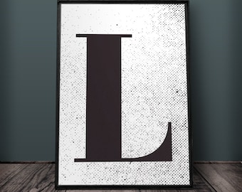 Letter L Print, Letter Wall Art, Letter Wall Decor, Printable Letters, Large Part 96