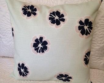 Nate Berkus Emila Lynwood Mint pillow cover 14 by 14