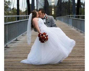 Wedding Bouquet, Wedding Flower, Fall Wedding, Bridal, Silk Flower, Deep Red Roses, Dark Red Mums, Babies Breath Cream, Fall Bridal Package