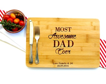 Personalized Cutting Board, Custom Cutting Board, Gift for Dad, Most Awesome