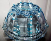 Lovely in blue candy dish sun catcher / wind chime