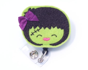 Halloween Badge Holders - Cute Holiday Badge Reels - Unique Retractable ID Badge Holder - Felt Badge Reel - Peds RN Badge - BadgeBlooms