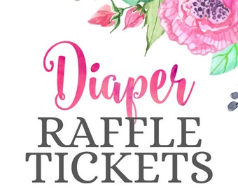 Made-to-Match Printable Diaper Raffle Ticket • Add-on to your Invitation Order