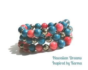 Hawaiian Dreams - Pyrite Turquoise, Pyrite