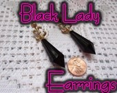 Bishojo Senshi SAILOR MOON   Scout Earrings  Black Lady Dark Moon