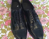 Black Patent Leather Oxfords Size 10