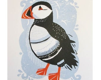Puffin Screen Print