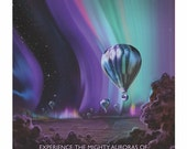 NASA Jupiter Space Retro Art Travel Poster Solar System Planets Future Tourism Sci Fi