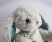Artist Jointed Bunny Rabbit - OOAK Collectible  Artist Bear- Glass Eyes - Hand Sewn Alpaca fur - Traditional Vintage Style.