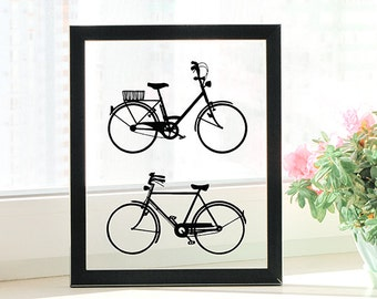 Bicycle Art, Anniversary Gifts for Boyfriend, Anniversary Gifts for Men, Anniversary Gifts for Husband, Anniversary Gifts for Couples, Gifts