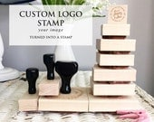 Your Custom stamp, Business Stamp, Wedding Stamp Image or Wedding Favor Image turned into a wooden stamp with or without handle