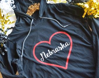 Nebraska Huskers Hoodie - Huskers - Husker Football - Nebraska - Nebraska Football - Go Big Red - The Good Life - Omaha - Lincoln