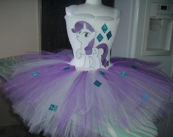 Rarity or any  My Little Pony  Costume Flower Girl Tutu Dress