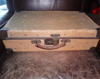 1920's rattan suitcase...hard to find