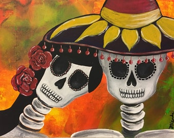 Couple - Day of the Dead Original Painting