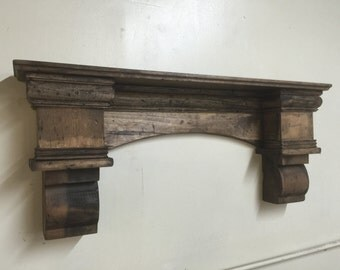 Rustic Arch Mantle, Fancy Arch Mantle, Fireplace mantle with corbels, Fireplace Mantle, Rustic Mantle, Arch Wall Shelf, Floating Shelf