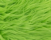 MoHair 60 Inch Faux Fur Lime Green Fabric by the Yard, 1 yard
