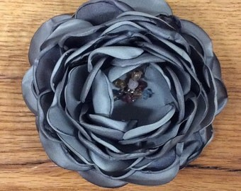 Fabric Flower brooch pin clip
