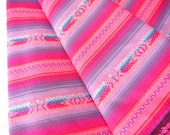 Aztec Fabric, Peruvian Fabric, Woven, Hot Pink Manta, 2 Yards
