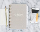 Financial Planner – 12-month Fill-in the Date Planner for saving, budgeting and planning ahead (Oatmeal)