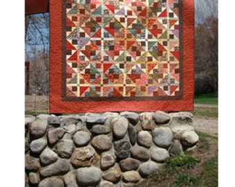 Firelight - Fat Quarter Quilt Pattern by Mary's Cottage Quilts
