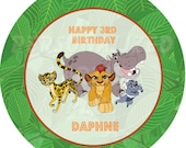 Lion Guard plate labels, cup labels and treat bag labels | DIY Lion Guard Stickers for plates, cups, and treat bags