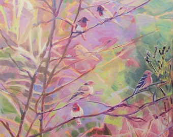 Birds in the Thicket Painting