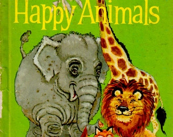 The Wonder / Romper Room Book of Happy Animals by Oscar Weigle, illustrated by Robert Jones