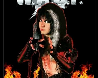 WASP Blackie Lawless Stand-Up Display - Wasp Band Collectibles Memorabilia Retro Gift Idea Heavy Metal Band Posters Heavy Metal 1980's