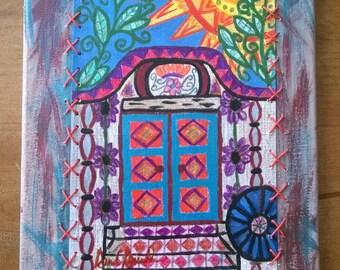 Mixed Media Door with Zendangle designs