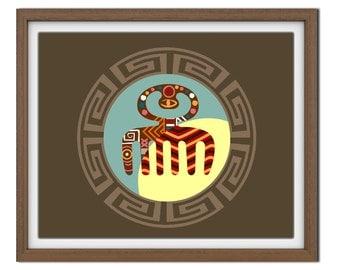 Adinkra symbols DUAFE, Modern African Pop Art, African Symbols, African  American wall decor, African Wall Hanging, African Wall Art