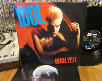 Billy Idol - Rebel Yell - Must Have Dance Party Album - 1980s - Synth Pop - Punk - w/ Inner Sleeve