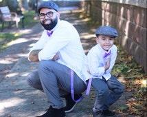 Light Purple Bow tie suspenders Baby bow tie Boys Bow ties Toddler Necktie Lavender Mens bowties Wedding Ring Bearer Outfit Groomsmen Bowtie