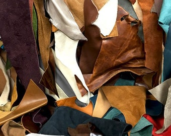 Assorted Upholstery Leather Scrap 10LBS