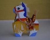 Chagu-chagu Umaku horse doll, vintage Japanese mingei folk craft #11
