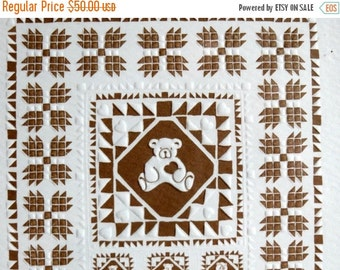 ON SALE Mary Rutherford Framed Quilt Print / Hearts and Teddy Bears / Folk Art / Signed / Numbered