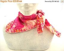 scarf cotton voile fuschia and orange poppies women's spring scarf